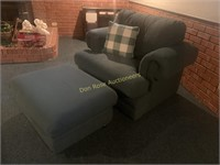 Oversized Chair and Footstool