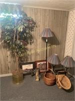 Lamps, Artificial Tree, Decor, Baskets