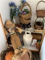 Closet of Baskets and Decor