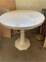 Table with Cast Iron Base