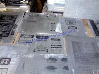 OLD ADVERTISING PRINTING PLATES
