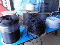 LOT OF LARGE ROLLS OF WIRE