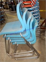 LOT OF 20 SLED BASE CHAIRS