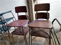4 VINTAGE HEYWOODITE CHAIRS ADULT SIZE