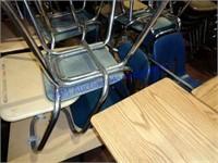 LOT OF 11 STUDENT DESKS ADULT SIZE