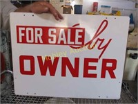 DOUBLE SIDED PORCELAIN SIGN