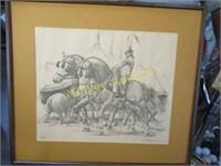 SIGNED AND NUMBERED DRAWING CIRCUS