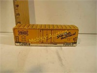 TRAIN CAR BOX WITH ADVERTISING MATCHBOOKS