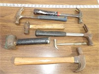 Hammers - Claw, balpine & brass - 7pcs