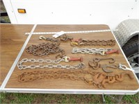 Car hauler deck chains & assorted chain segments
