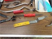 Brake tools, pipe bender, spring tools etc