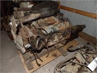 1966 - 421cu in V8 Pontiac engine & trans