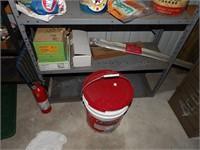 Paint, ice melt, grease, waterproofing, jetcoat +