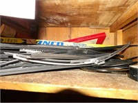 Contents of cabinet - Windshield wipers & more