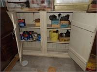 Blind front antique 2 door cabinet