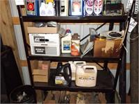 Automotive care items & shelving unit