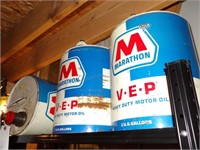 Marathon VEP 5gal vintage oil cans
