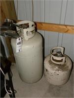 Pair of LP tanks & Mr. Heater