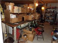workbench with heavy duty legs