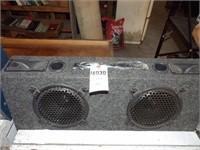 """Pair of 8"""" speakers in box"""