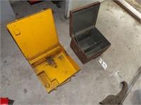 2 metal tool cases