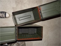 2 ammo boxes