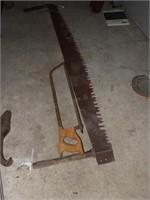 2 man cross cut saw & Meat saw