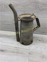 VINTAGE HUFFMAN HALF GALLON TIN WATERING CAN