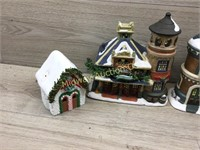 4 PIECE CHRISTMAS TOWN SOME DAMAGE