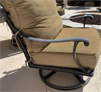 21 - LOT OF 3 SWIVEL PATIO CHAIRS