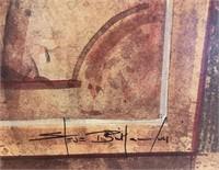 21 - SIGNED & FRAMED PALM TREE WALL ART