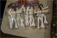 TRAY - XMAS DECORATIONS & SLEIGH & ELVIS ORNAMENTS