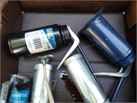 5 oil cans & grease guns