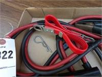 Set of jumper cables & battery carrier