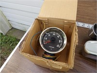 Vintage Pickup Bumper Parts & Tachometer