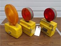 "3pc Construction Barrel ""Flashers"" Lights"
