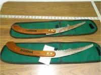 Pair of folding limb saws