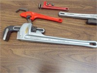 Ridgid Pipe Wrenches - Group of 4