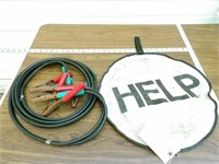 "Jumper Cables w/ ""HELP!"" bag"