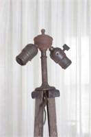 Antique wooden light fixture