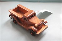 Small wooden pickup truck