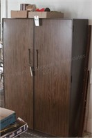 2 door metal armoire