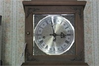 Oak glass front clock (square)