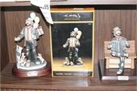 Pair of Emmet Kelly figurines