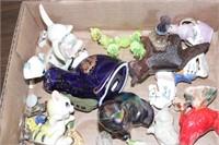 Figurines: cats, birds, horse, & more