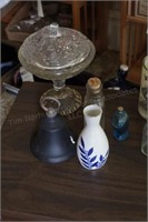 Sake bottle, snowflake, bell & more