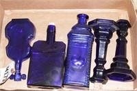 Cobalt glass blue bottles
