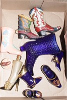 Glass boots & shoes