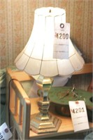Small brass lamp w/ shade