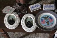 Bicentennial plate & Decor